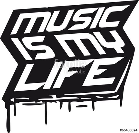 design is my life quot logo music is my life graffiti design quot stock photo and