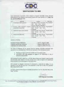construction invitation to bid template invitation to bid construction myideasbedroom