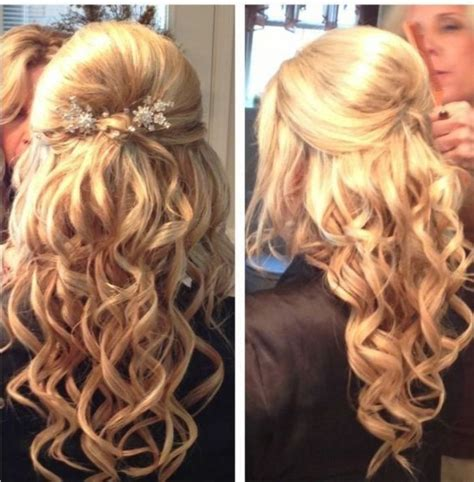 homecoming hairstyles for medium length hair down half up half down hairstyles medium length hair prom www