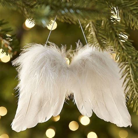 fluffy feather christmas tree decoration angel wings feather wings ornament trees wings and the