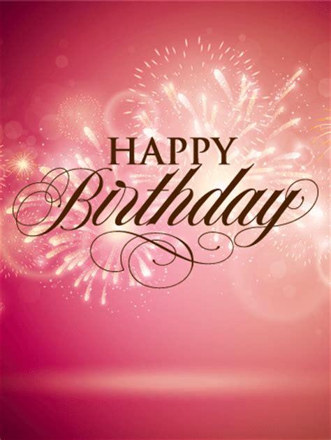elegant birthday fireworks card birthday greeting