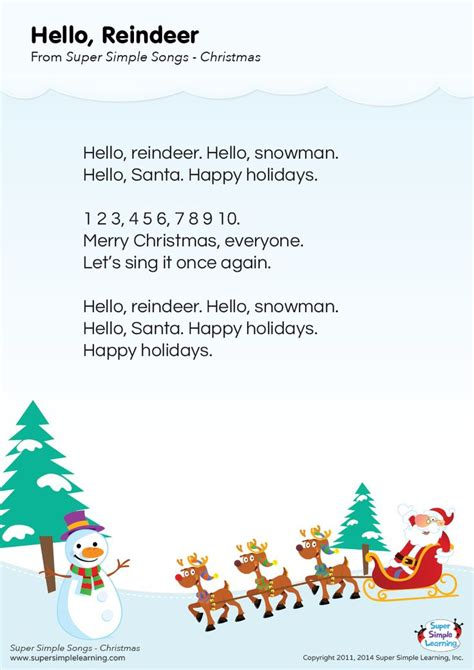 you learn testo learning reindeer and on