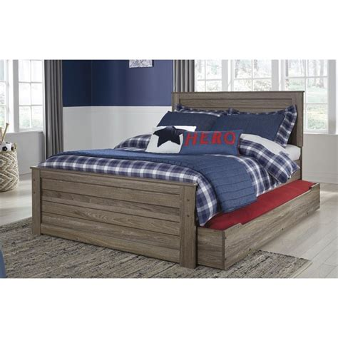 ashley trundle bed ashley javarin full panel bed with trundle in grayish