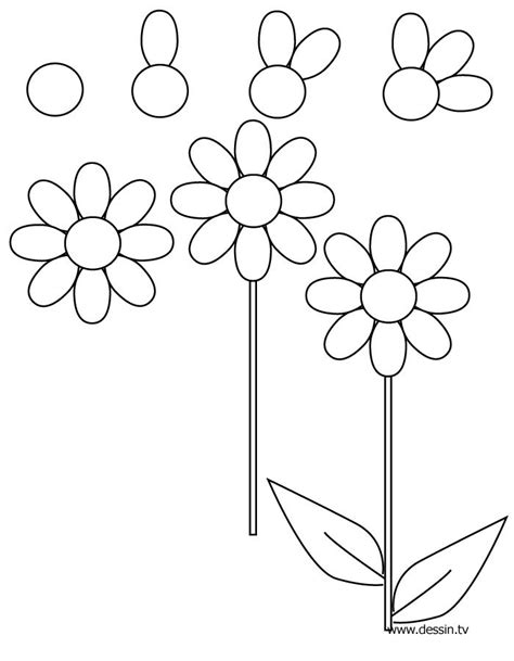 doodle flowers step by step how to draw a flower step by step draw flowers easy