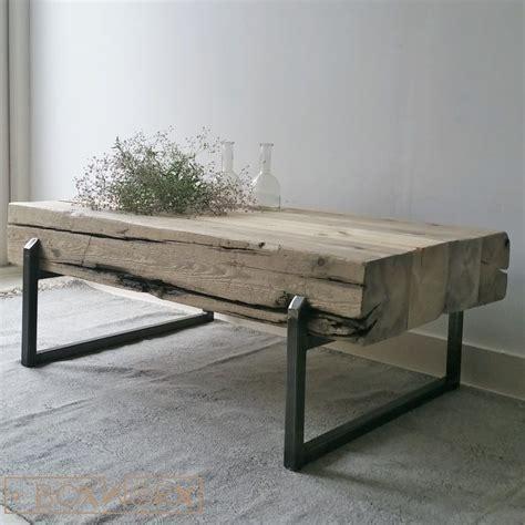 salontafel hout wit combinatie bijzettafel staal hout best industrile salontafel bankje