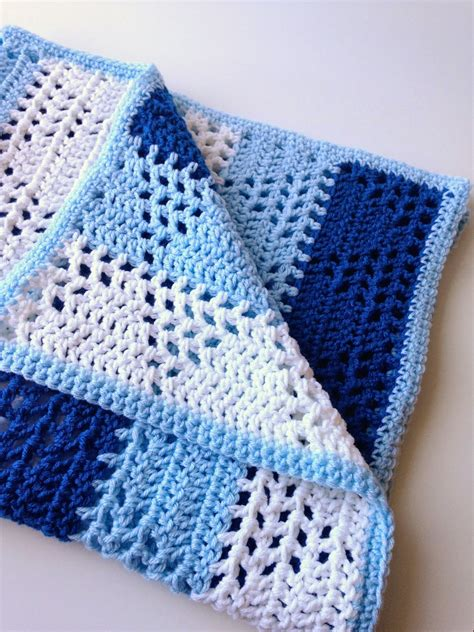 Crochet Blanket Pattern by 5 Monsters Triangles Stripes Baby Blanket