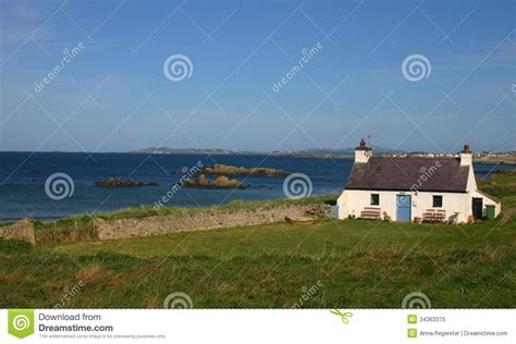 Cottages In Wales By The Sea With Pets by White House In Wales Royalty Free Stock Photo Image
