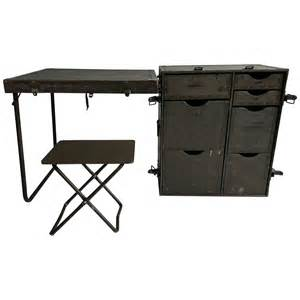 Portable Desk by Industrial Army Issue Portable Desk At 1stdibs