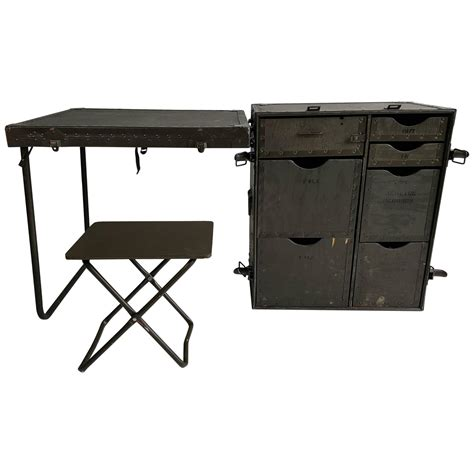industrial army issue portable desk at 1stdibs
