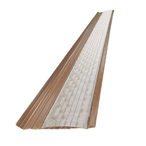 Vinyl Gutters Home Depot by Amerimax Home Products 6 Ft Brown Vinyl Leaf Guard Plus