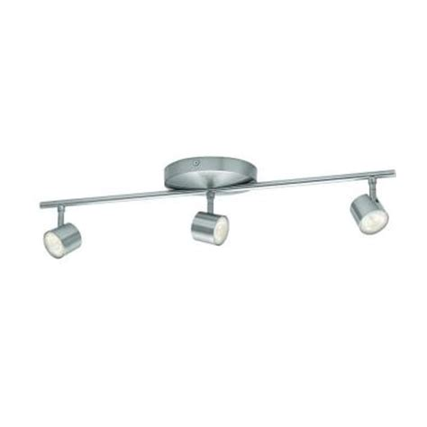 home depot led light fixtures philips 3 light nickel led integrated track lighting