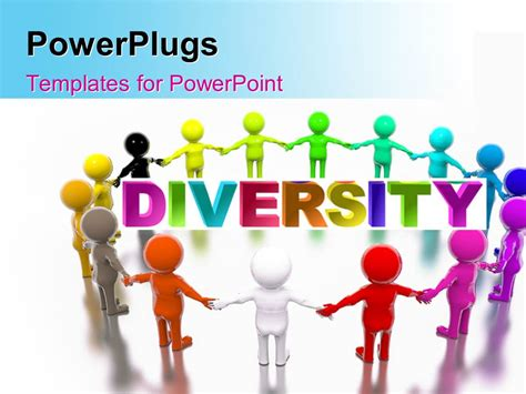 Diversity Powerpoint Templates Free by Powerpoint Template A Number Of Various Colored Figures