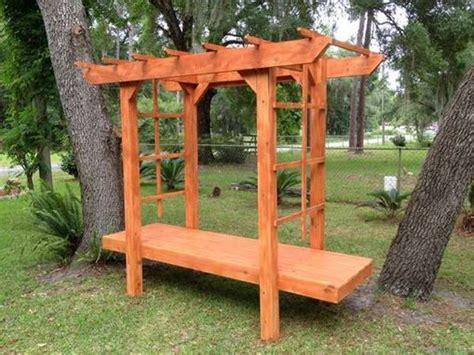 buy  hand crafted  cypress arbor  cedar planter