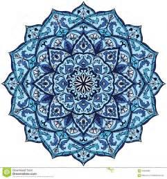 Trellis Plans Mandala De Bleu De Vintage Illustration De Vecteur Image