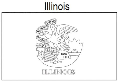 geography blog illinois state flag coloring page