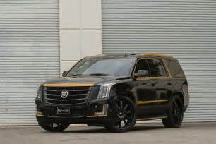 Bronze Wheels On Black Truck Black And Bronze 2015 Cadillac Escalade On Forgiato Wheels
