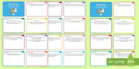 reading challenge cards guided reading challenge cards guided reading reading