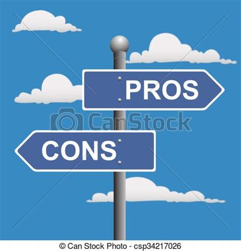 eps format pros and cons vector illustration of pros and cons pros cons street