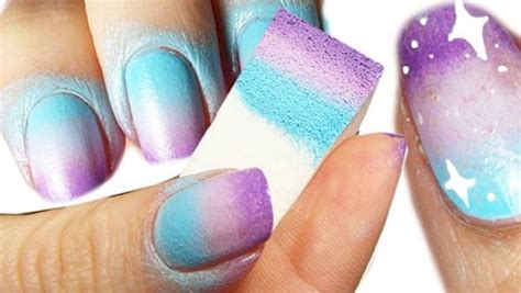 easy nail art sponge creative diy nail art designs that are actually easy