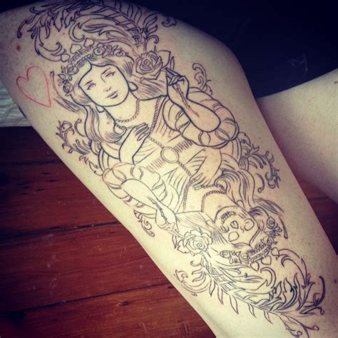 tattoo cost norway my in progress queen of hearts thigh piece done by nalla