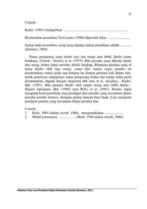 penulisan daftar pustaka footnote contoh penulisan jurnal penelitian yang benar contoh win