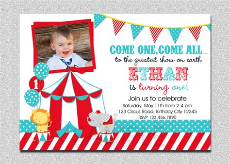 circus themed invitation templates 11 marvelous circus birthday invitations