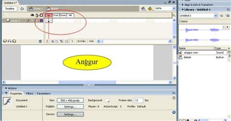 membuat link button pada flash menambahkan efek suara pada button di flash komang anom