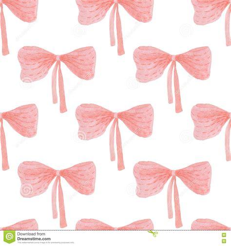 seamless ribbon pattern seamless pattern of watercolor ribbon bow stock