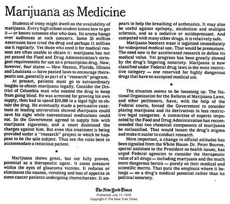 Marijuana Legalization Essays by Evolving On Marijuana The New York Times