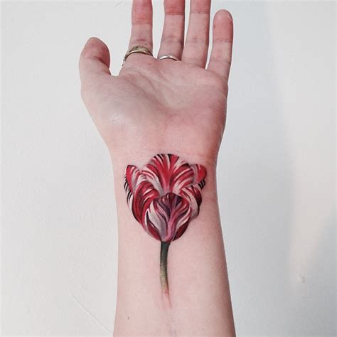 tulip wrist tattoo best tattoo design ideas