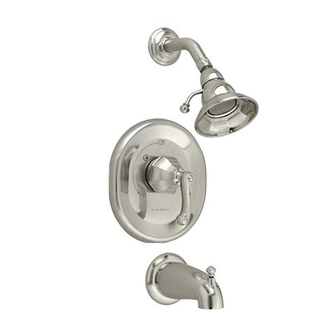 Three Handle Tub And Shower Faucet Brushed Nickel by American Standard Dazzle 1 Handle 3 Function Tub And