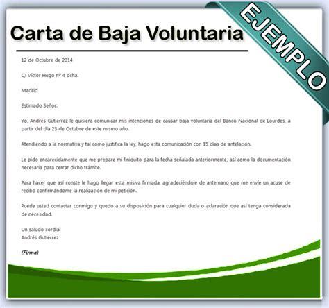 c 243 mo hacer una carta de baja voluntaria en word