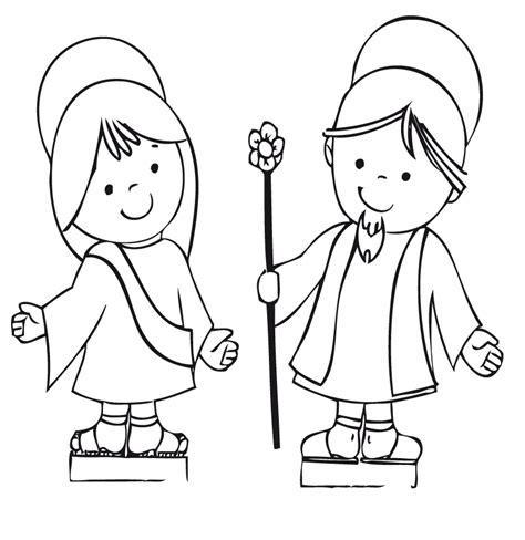 dibujos para colorear de san jose maria y jose para colorear imagui