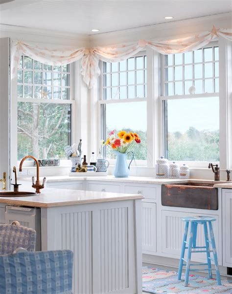cottage style kitchen curtains tour a dreamy seaside cottage