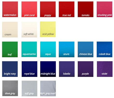 types of blue colors the different types