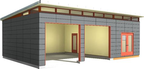 Garage With Shop Prefab Dwelling Kit Prefab House Kit Prefab Garage Kit