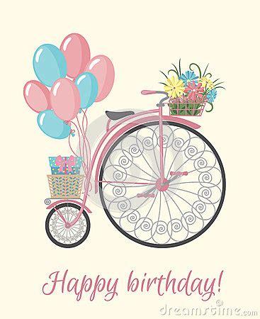 imagenes de una retro estilo retro de la bicicleta con las flores y los globos