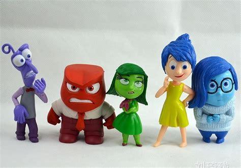 Inside Out Figurines With Base 6 Pcs Set 8 10cm 6pcs set inside out pvc figure toys collection children kid tv