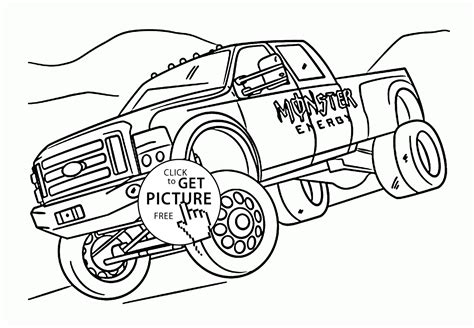 monster trucks coloring pages monster energy free coloring pages