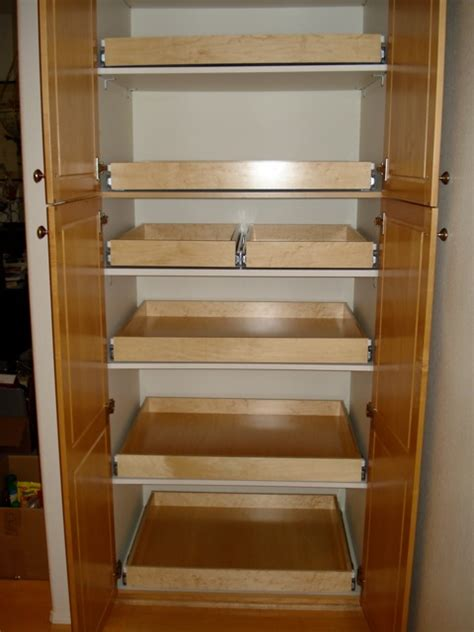 Kitchen Cabinet Sliding Racks by Best 25 Roll Out Shelves Ideas On Pinterest Pull Out