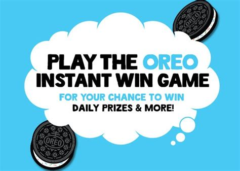 Easy Instant Win Sweepstakes - oreo instant win game sweepstakesbible
