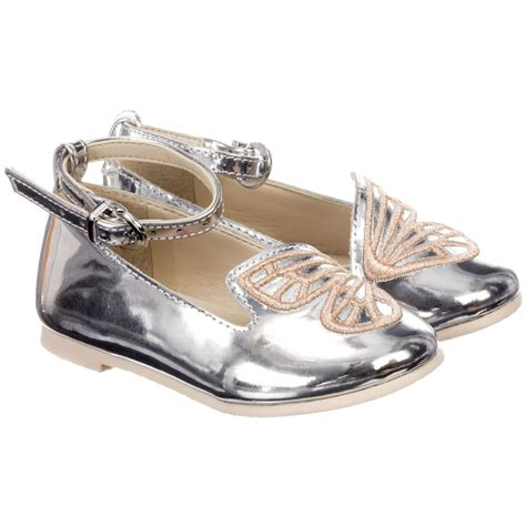 webster mini bibi silver leather shoes