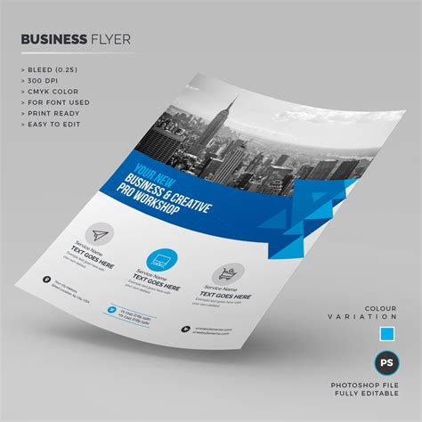 Blue Business Corporate Flyer Template 000231 Template Catalog Blue Flyer Template