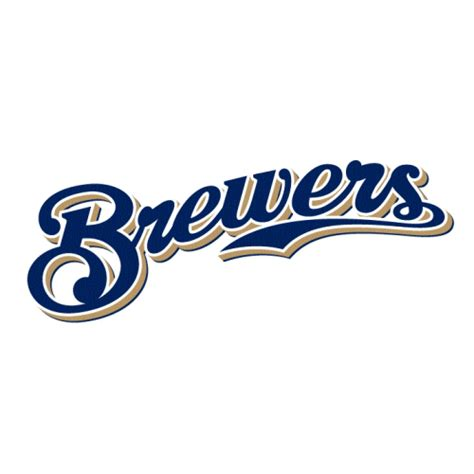 Hockey Wall Stickers milwaukee brewers script logo decal sticker version 1