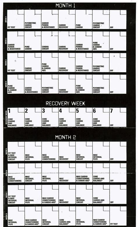 Insanity Calendar Pin Workout Schedule Insanity Calendar On