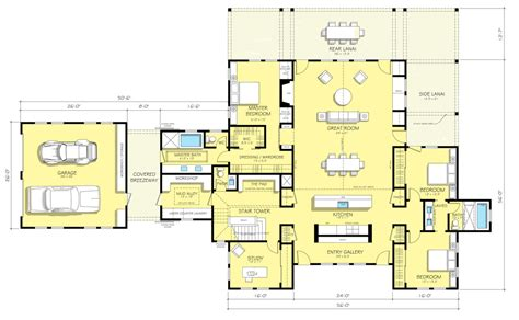Farmhouse Floorplans by Farmhouse Style House Plan 3 Beds 2 5 Baths 3038 Sq Ft