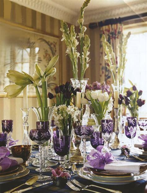 tablescape ideas purple tablescape table decoration centerpieces
