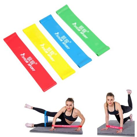 Band Loop Tension Rope Fitness aliexpress buy 4 levels pilates rubber resistance bands fitness loop rope stretch