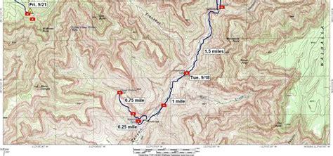 grand map south kaibab trail photo maps september 2006 ken bright