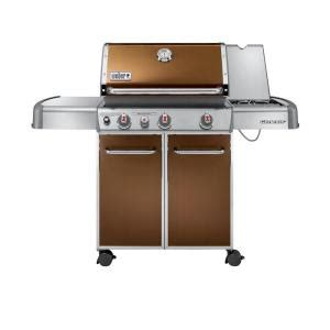 weber genesis e 330 3 burner propane gas grill in copper
